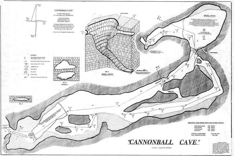 CaveAtlas.com » Cave Diving » United States » Cannonball Cave