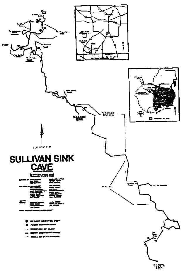 caveatlas cave diving united states leon sinks cheryl sink Diagram of a Diamond system map north map